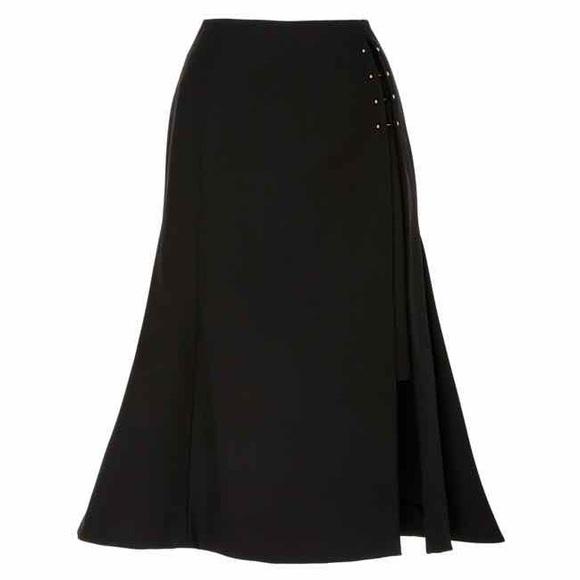 3052685d58 ADEAM Side Slit Flared Skirt in Black (Size 2)